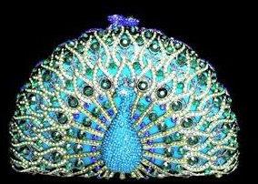 Peacock  Blue Evening Purse