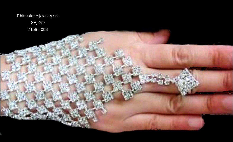 Rhinestone Net Hand Jewelry