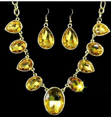 Yellow & Gold Necklace Set
