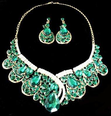 Exquisite Green Necklace Set