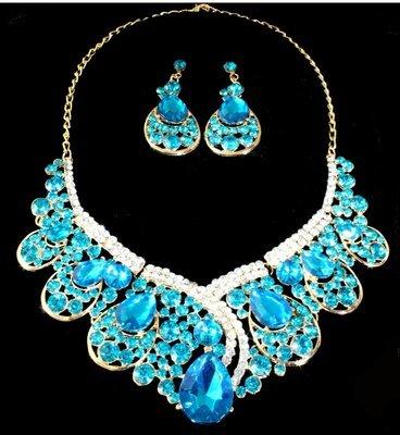 Light Blue Necklace Set