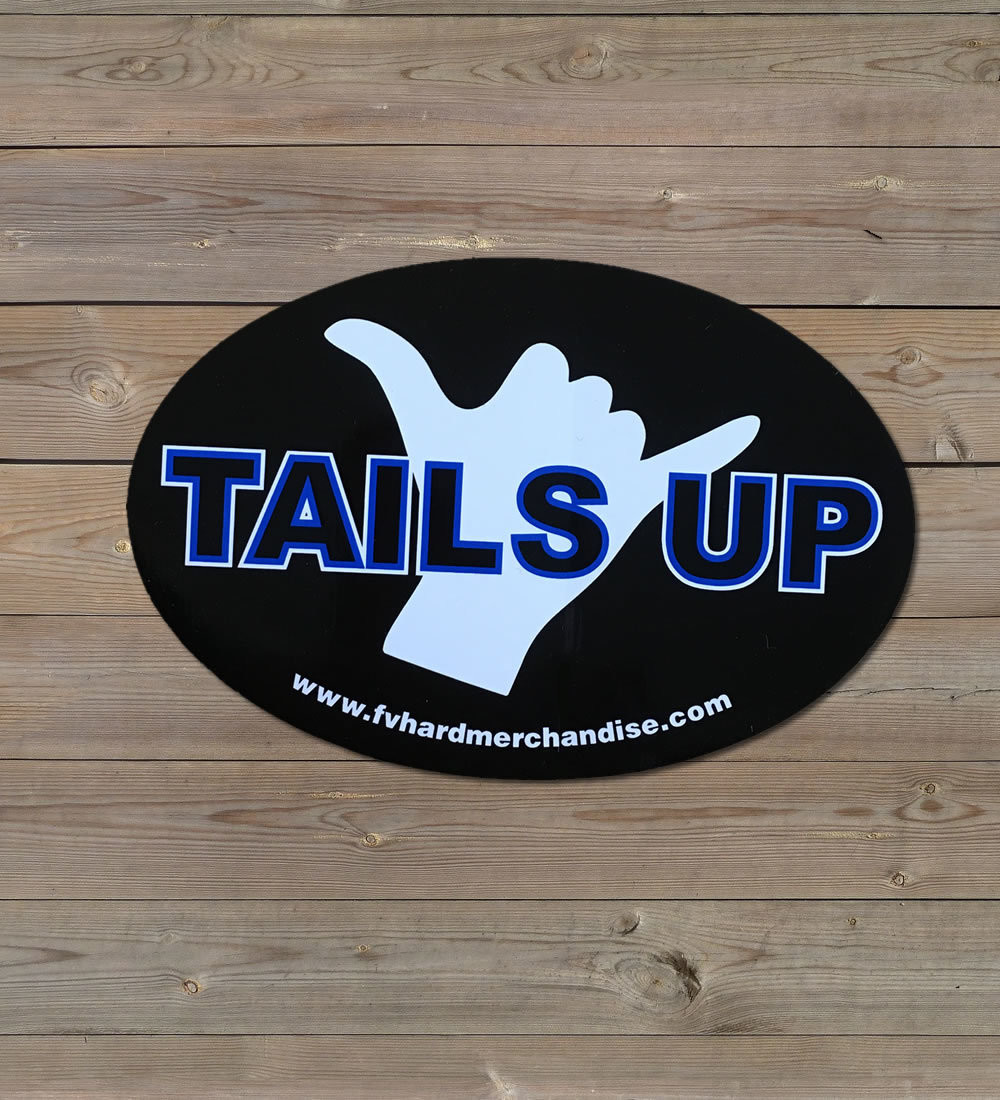 Bumper Sticker - Tails Up