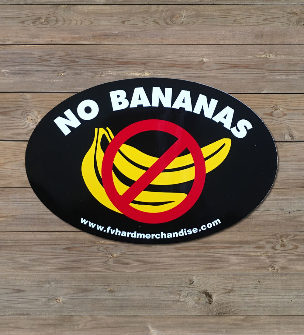 Bumper Sticker - No Bananas