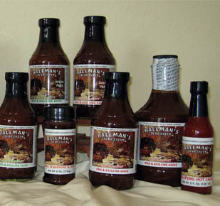 BBQ Sauce bundle of two 19.8 oz bottles or two 6 oz BBQ Rubs
