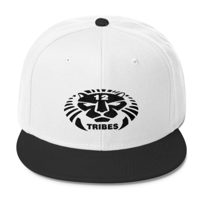 12 TRIBES LION LOGO BLACK PRINT HAT