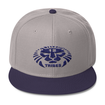 12 TRIBES LION LOGO NAVY PRINT HAT