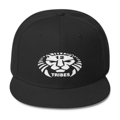 12 TRIBES LION LOGO WHITE PRINT HAT