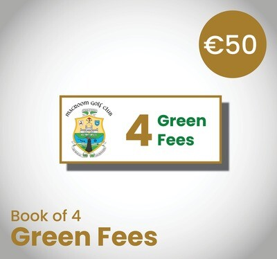Book of 4 Green Fee Vouchers
