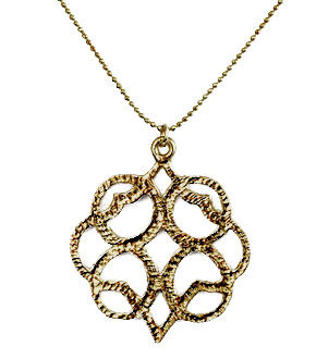 Sheila Fajl Embraced Circle Necklace