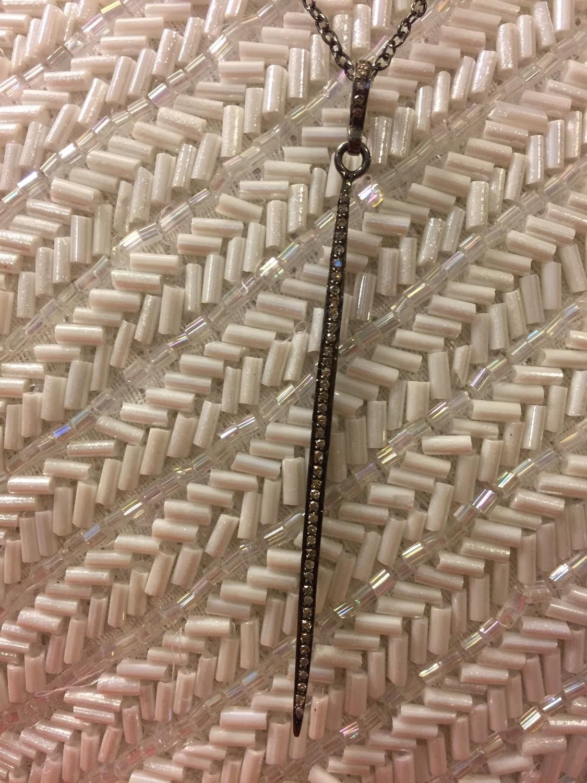 Sheila Fajl Diamond Dagger Necklace