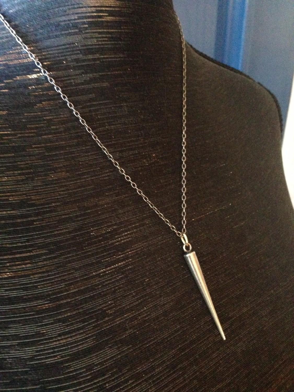 Sheila Fajl Long Spike Necklace