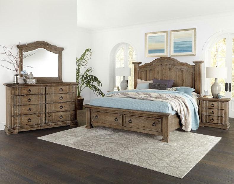 Vaughan Bassett Rustic Hills 4 Piece Bedroom Set