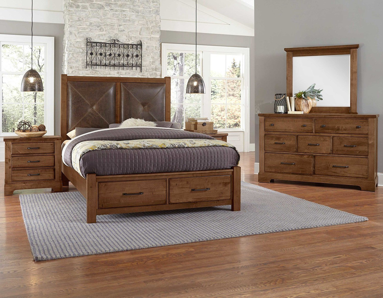 Cool Rustic SOLID MAPLE 4-Piece Bedroom set