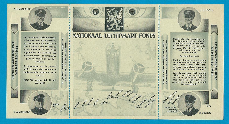 NEDERLAND Nationaal Luchtvaart fonds 1934 folder