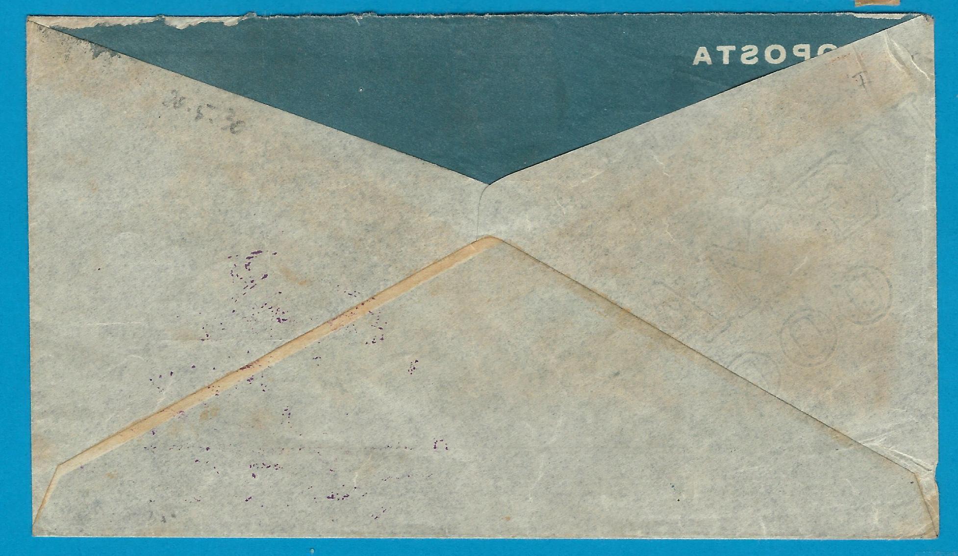 URUGUAY zeppelin cover 1930 Montevideo to Germany