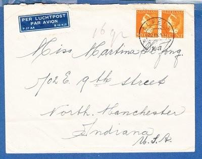NEDERLAND luchtpostbrief 1947 Almelo naar USA