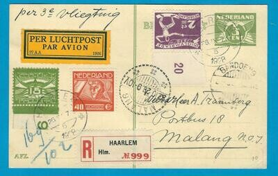 NEDERLAND R lp briefkaart 26-IX-1928 Haarlem 3e proefvlucht