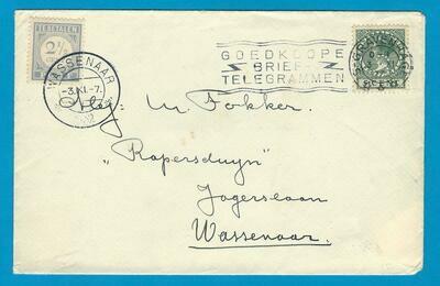NEDERLAND brief 1932 Den Haag naar Wassenaar beport