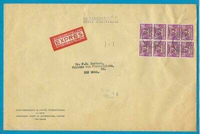 NEDERLAND Cour de Justice Expres drukwerk brief 1939