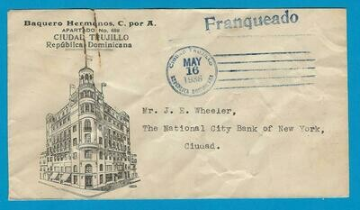 DOMINICAN REPUBLIC local cover 1936 Trujillo