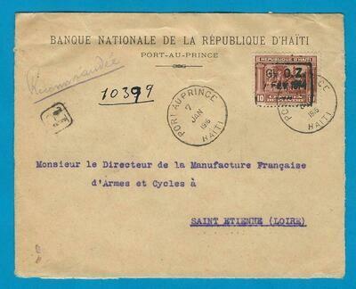 HAITI R cover 1916 Port au Prince to France
