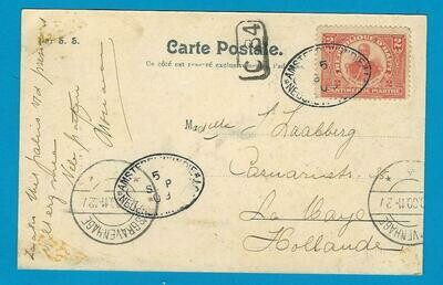 HAITI PPC 1909 with shipcancel to Netherlands