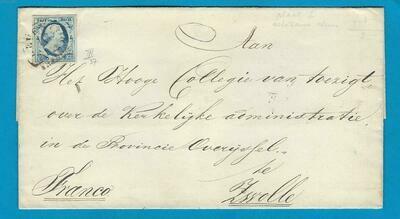 NEDERLAND brief 1853 Markelo naar Zwolle