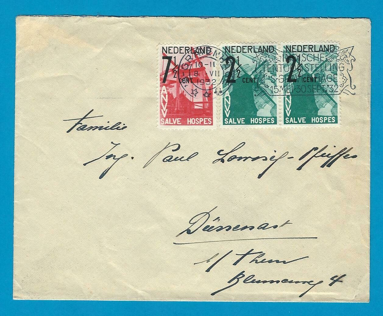 NEDERLAND brief 1932 Den Haag ANVV