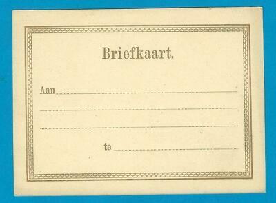 NEDERLAND briefkaart formulier II 1874 *