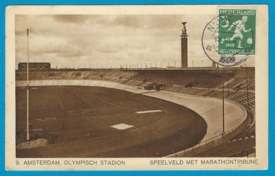 NETHERLANDS Olympic games 1928 PPC Nijmegen with 3ct soccer to Czech