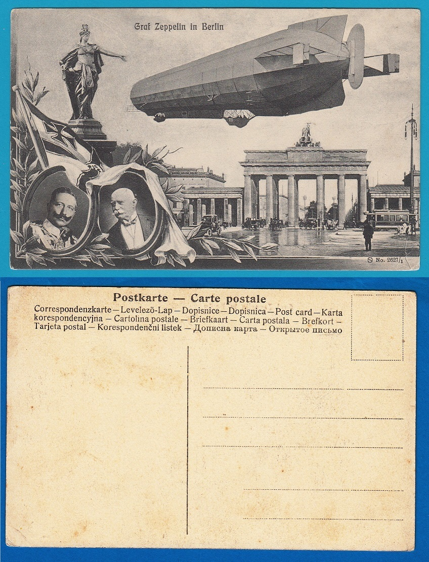 GERMANY Picture Post Card Graf Zeppelin in Berlin AI090