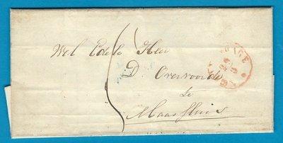 NEDERLAND vouwbrief 1853 Monster naar Maassluis