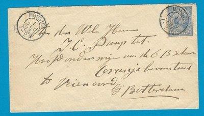 NEDERLAND brief 1898 Monster naar Feyenoord