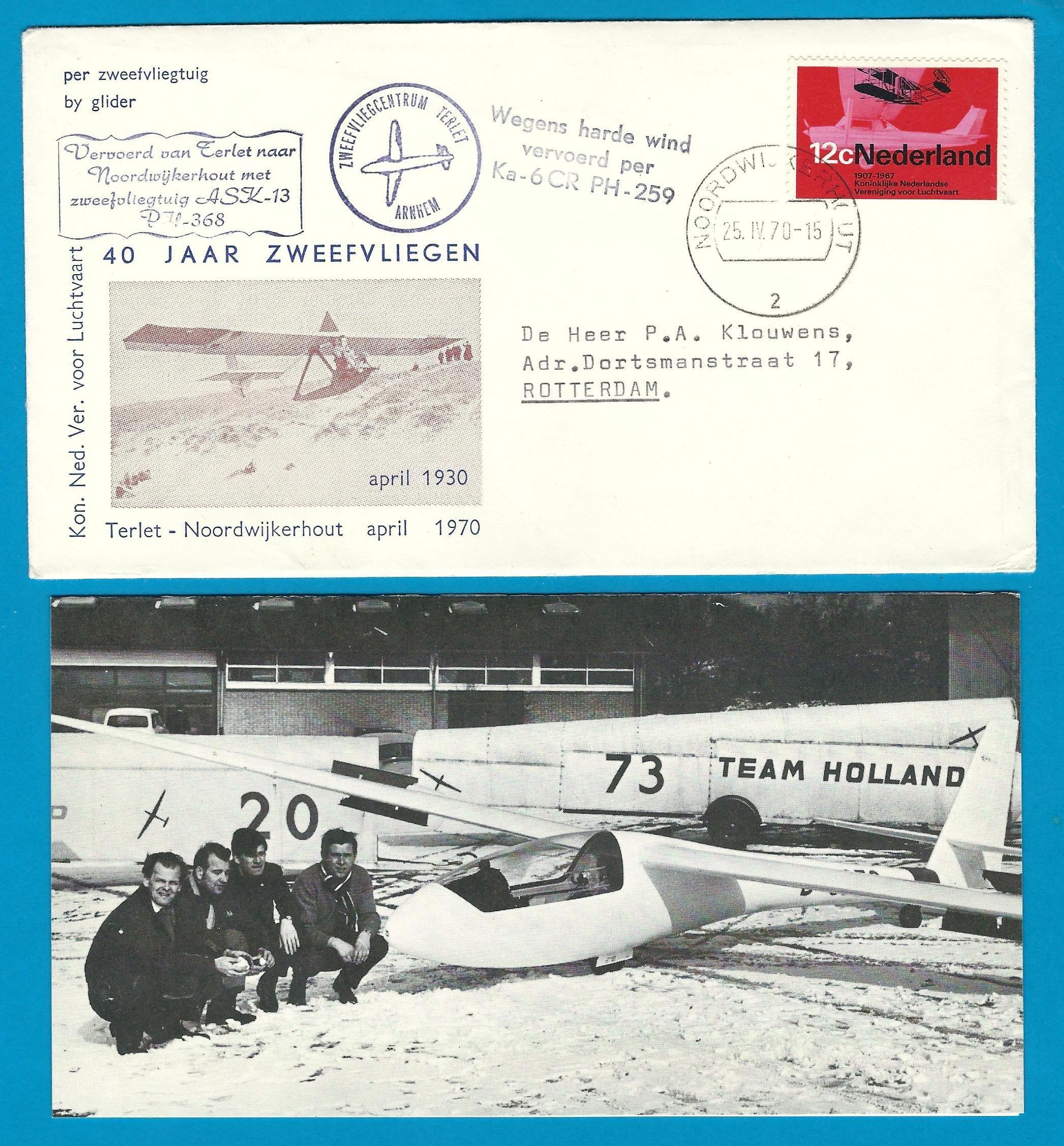 NEDERLAND Terlet zweefvlucht 1970 Noordwijkerhout NL7000