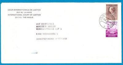 NEDERLAND Cour de Justice brief 1987 naar Duitsland