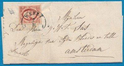 NEDERLAND brief 1858 Weert naar Amsterdam
