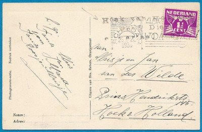 NEDERLAND kaart 1935 Schiedam