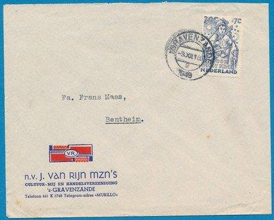 NEDERLAND brief 1949 's Gravenzande naar Bentheim