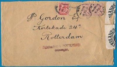 ENGELAND brief 1930 beschadigd te Rotterdam ontvangen