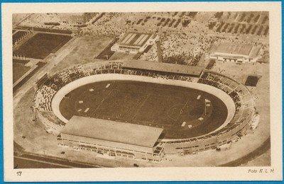 OLYMPIADE kaart Amsterdam 1928 Stadion KLM foto *