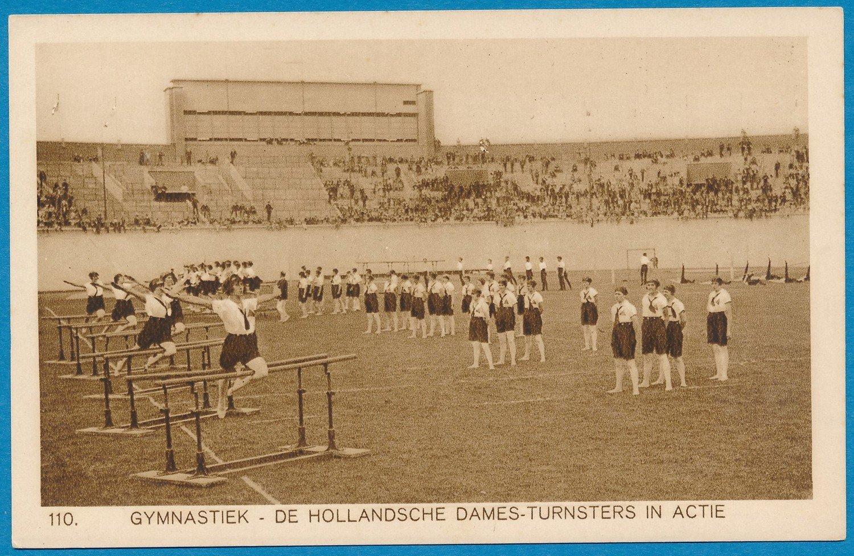 OLYMPIADE Amsterdam 1928 kaart Turnen Nederlandse dames *