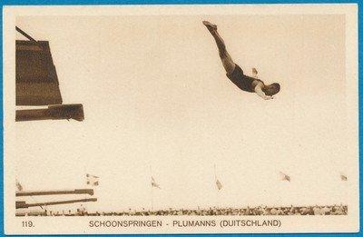 OLYMPIADE Amsterdam 1928 kaart schoonspringen *