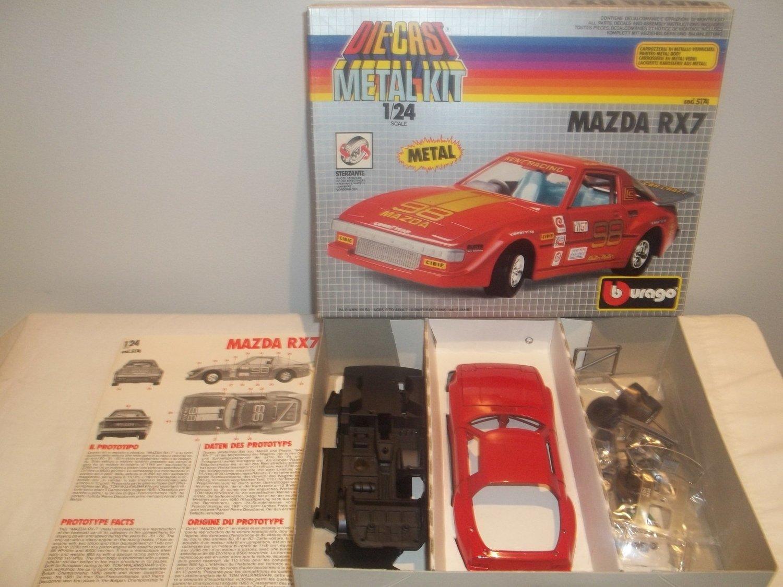 Vintage Burago 5174 Mazda RX7 Metal Kit 1/24 New