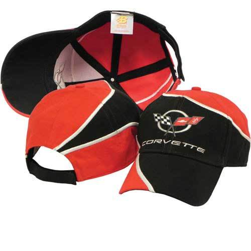 C5 Corvette Cap (Red and Black swirl)