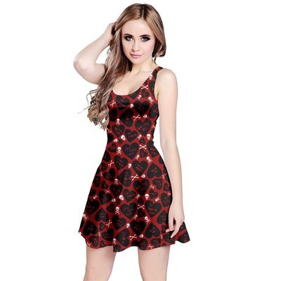Be My Ex Sleeveless Flared Dress