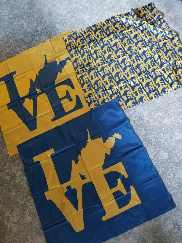 LOVE WV Satin Scarf