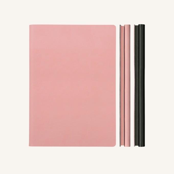 Signature Duo vonalas / pontozott jegyzetfüzet - A5 , rózsaszín/fekete
