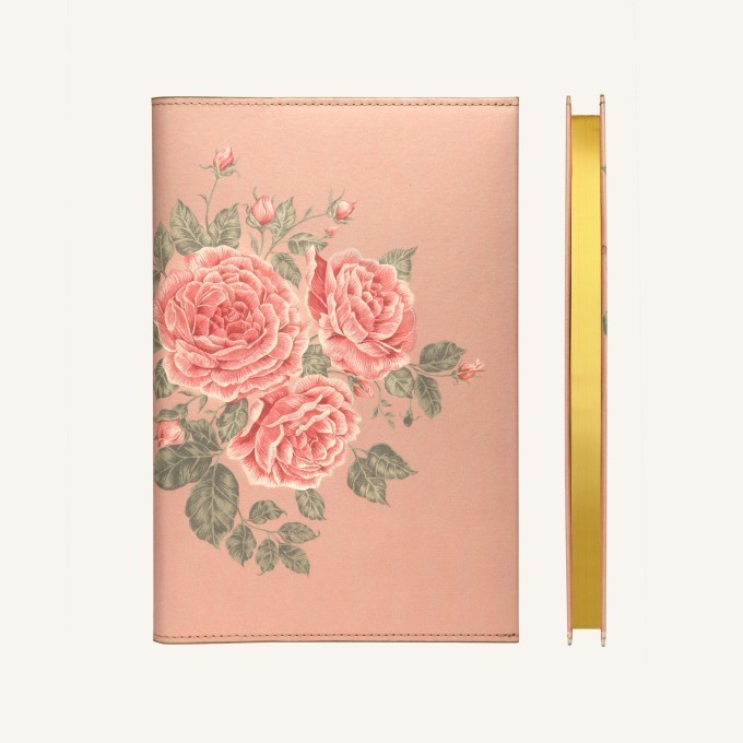 Flower Wow vonalas jegyzetfüzet - A5 , Tearózsa