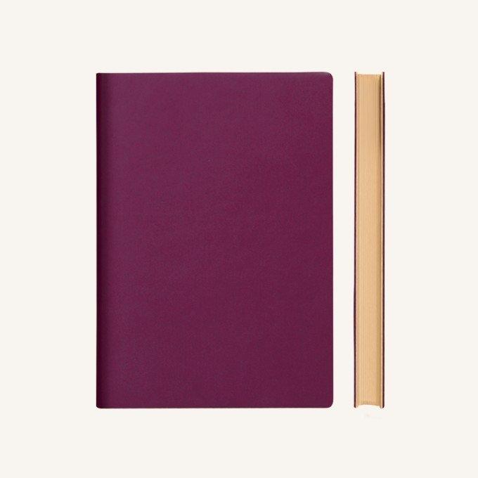 Signature sima üres  lapos jegyzetfüzet - A5 , lila