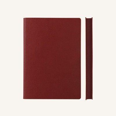 Signature kockás jegyzetfüzet - A5 , piros